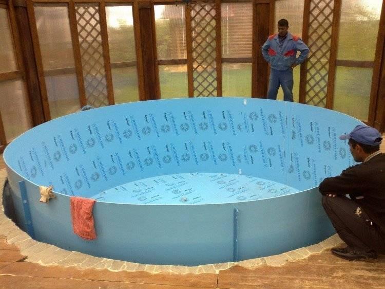 Изготовление бассейна из полипропилена своими руками + фото и видео