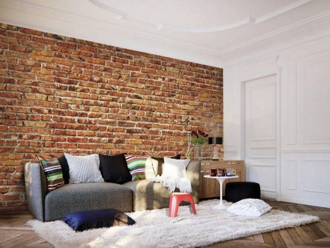 Стены в стиле лофт — кирпич, бетон и дерево в интерьере квартиры (100 фото)