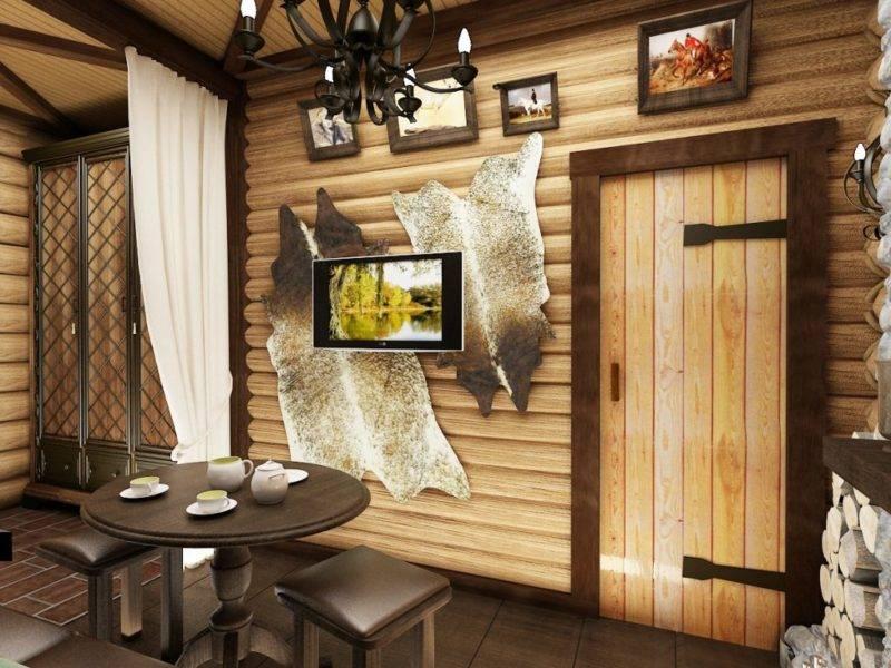 Проекты, дизайн интерьера предбанника в бане: фото и схемы планировки