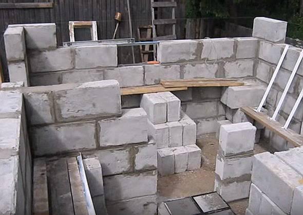 Баня из пеноблока своими руками: как построить баню из пеноблоков, пошаговая интсрукция, фото