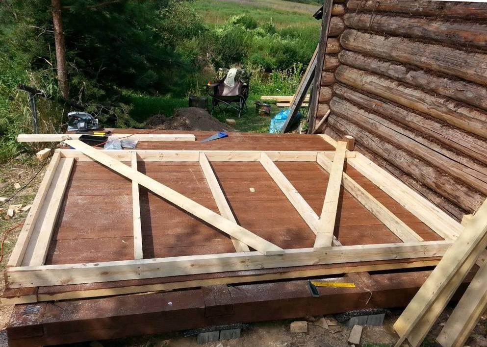 Проект бани с беседкой под одной крышей