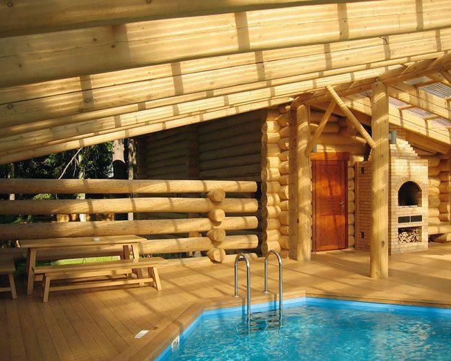 Баня с бассейном под одной крышей проекты