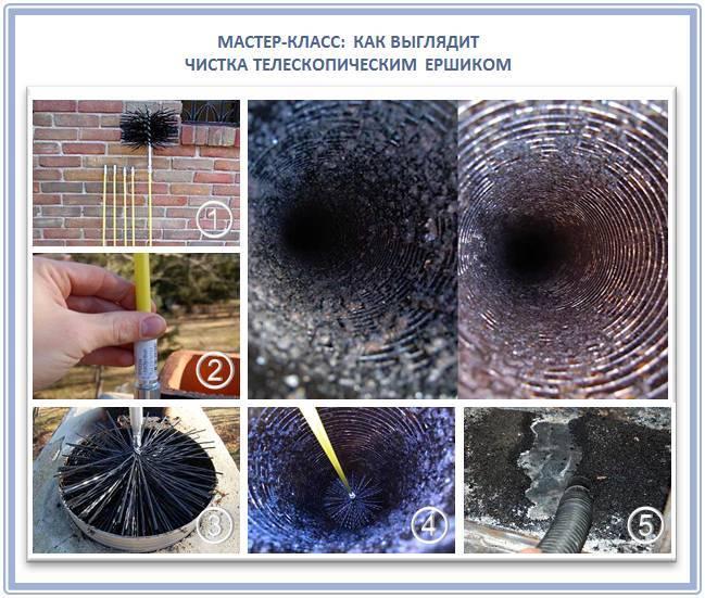 Как почистить трубу дымохода в частном доме?
