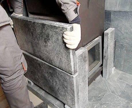 Облицовочная плитка из талькохлорита: для печей и каминов, стен и полов