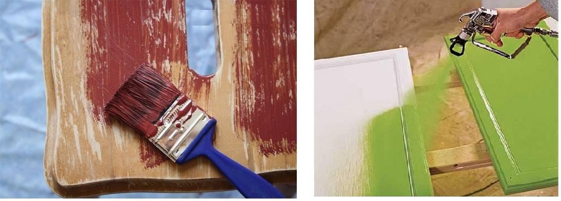 Как красить дерево акриловой краской