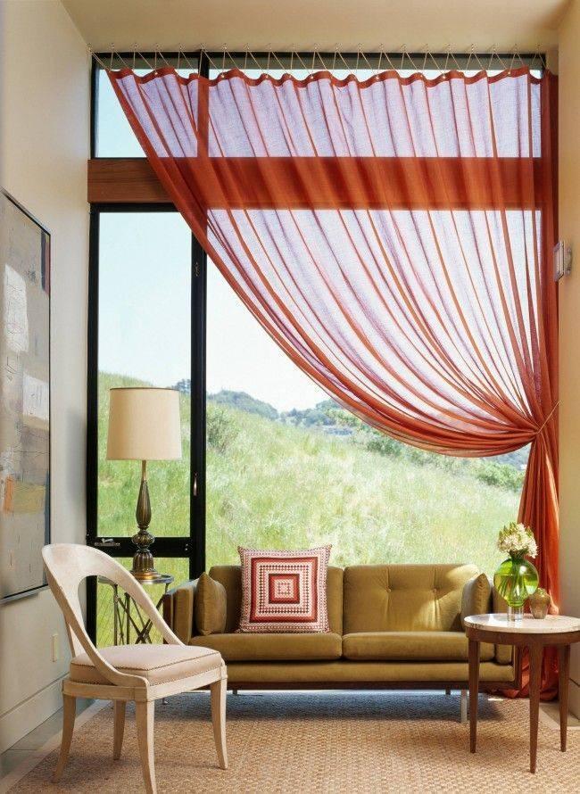 Оформление окон шторами - особенности декорирования и уникальные фото идеи