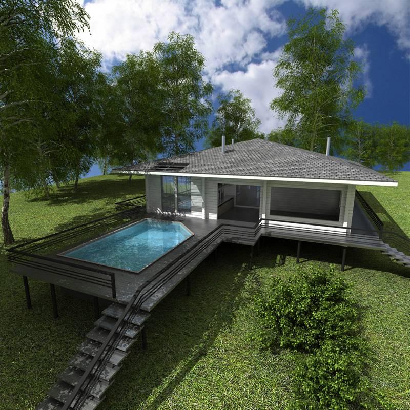 Подборка проектов бань с бассейном
