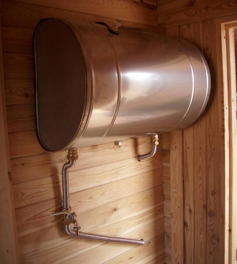Принципы выбора бака для воды в баню