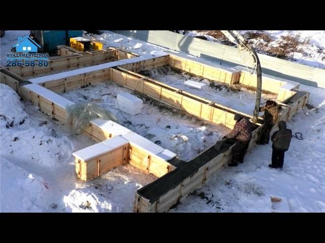 Как залить фундамент зимой: особенности выполнения работ