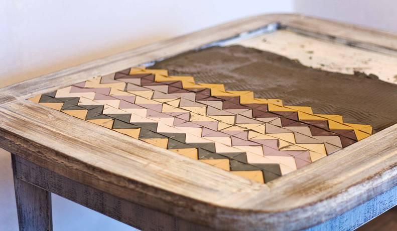 Столешница из мозаики: инструкция по изготовлению