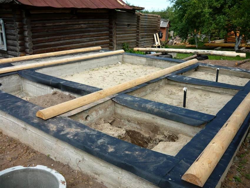 Плитный фундамент для бани: пошаговая инструкция, толщина