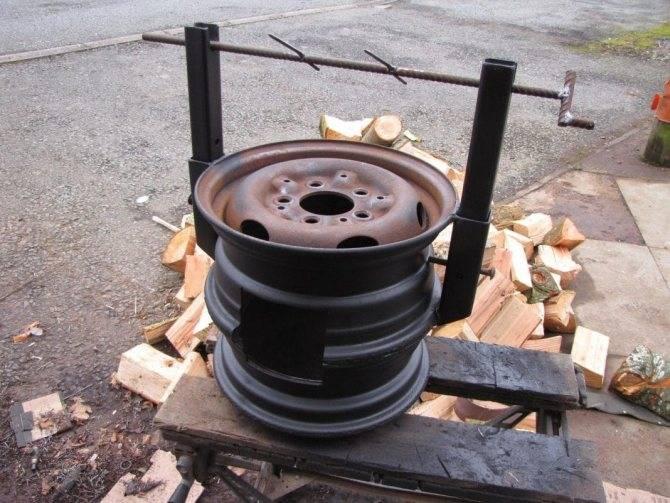 Делаем печь из колесных дисков: пошаговая инструкция