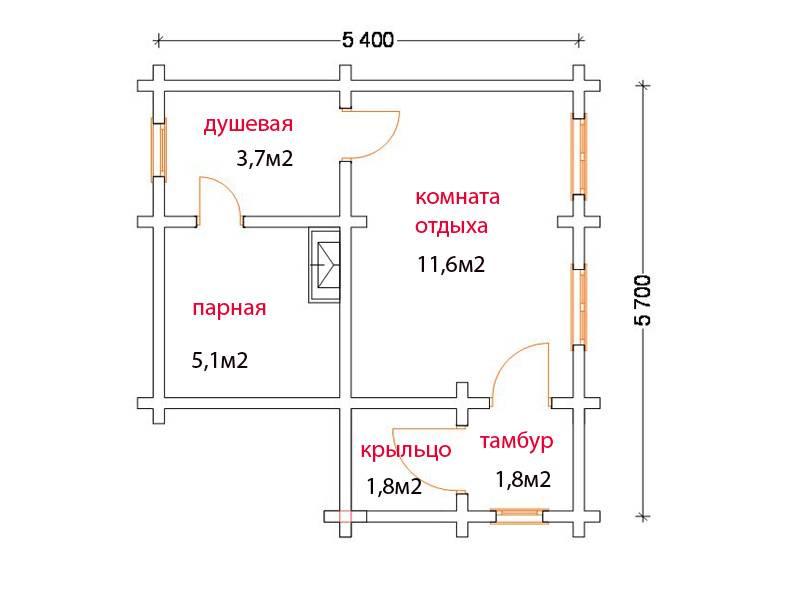 Проекты бани с комнатой отдыха: с небольшой кухней, спальней, одноэтажные бани с предбанником, фото и видео