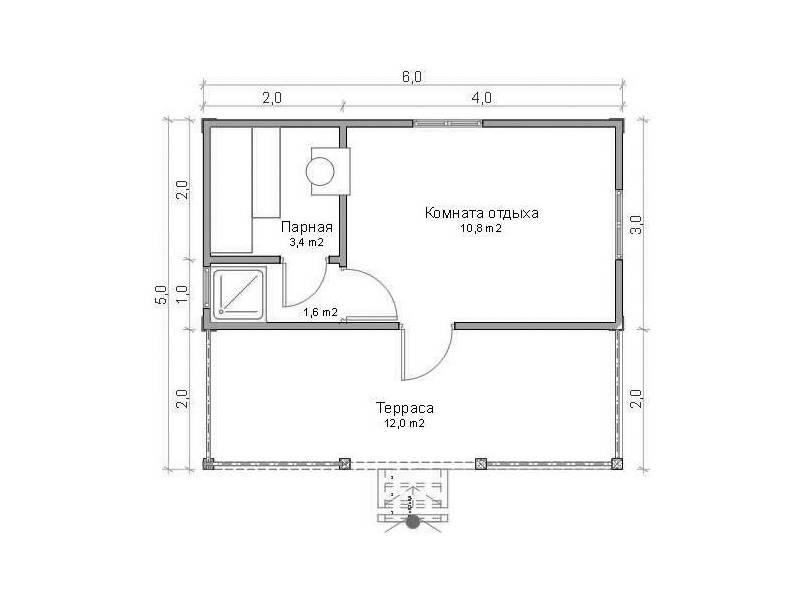 Проекты одноэтажных бань: преимущества, фото, идеи | построить баню ру