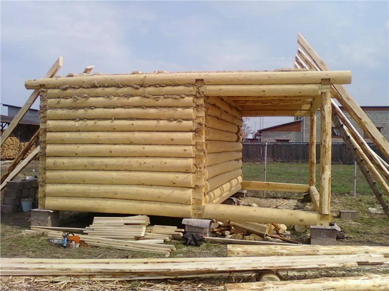 Строительство бани из бревна – пошаговое руководство