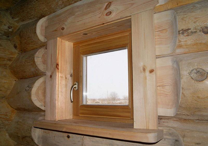 Деревянные окна для бани: со стеклопакетом и обычные, для разных помещений - парилки, комнаты отдыха и прочих