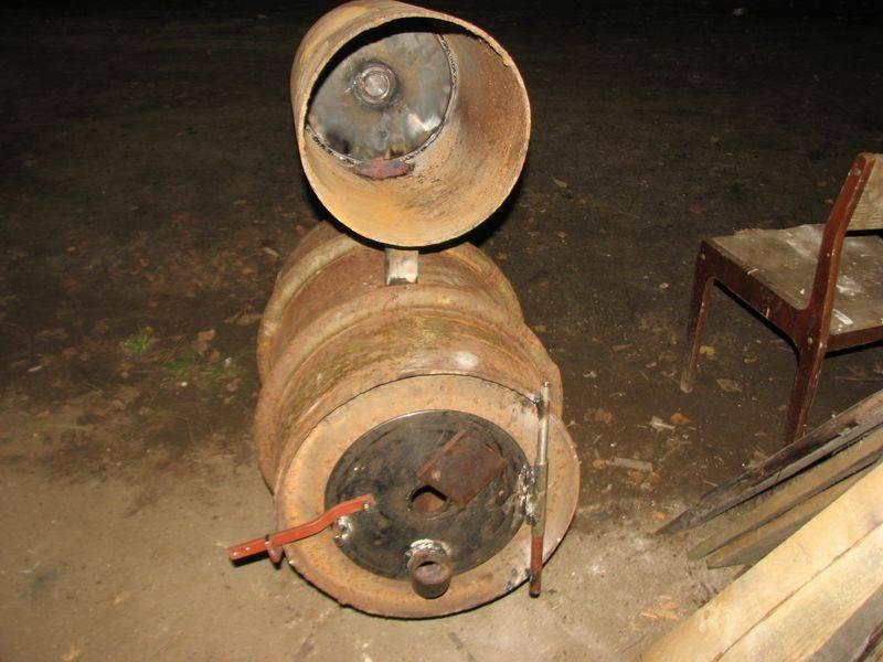 Печка из автомобильных дисков своими руками: два варианта изготовления