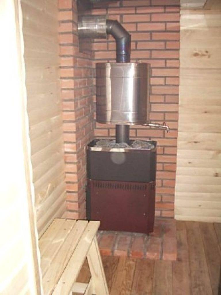 Установка печи в бане на деревянный пол пошагово