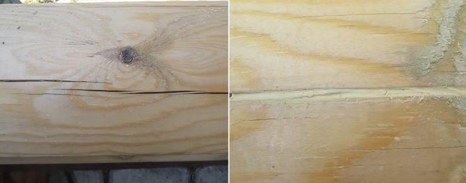 Чем заделать трещины в брёвнах сруба: материалы и способы заделки