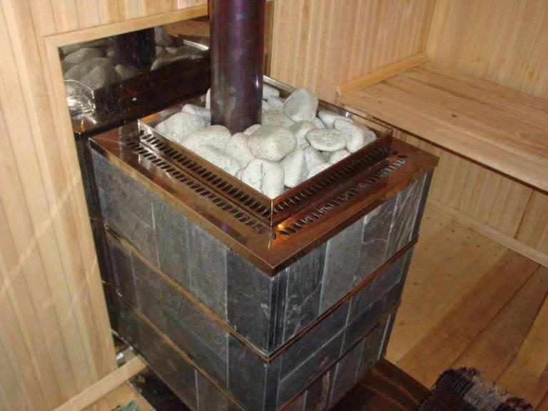 Как правильно установить печь каменку в бане и сауне