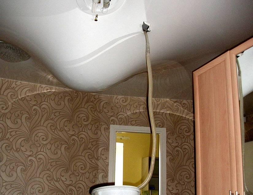 Проткнули натяжной потолок, что делать? - блог о строительстве
