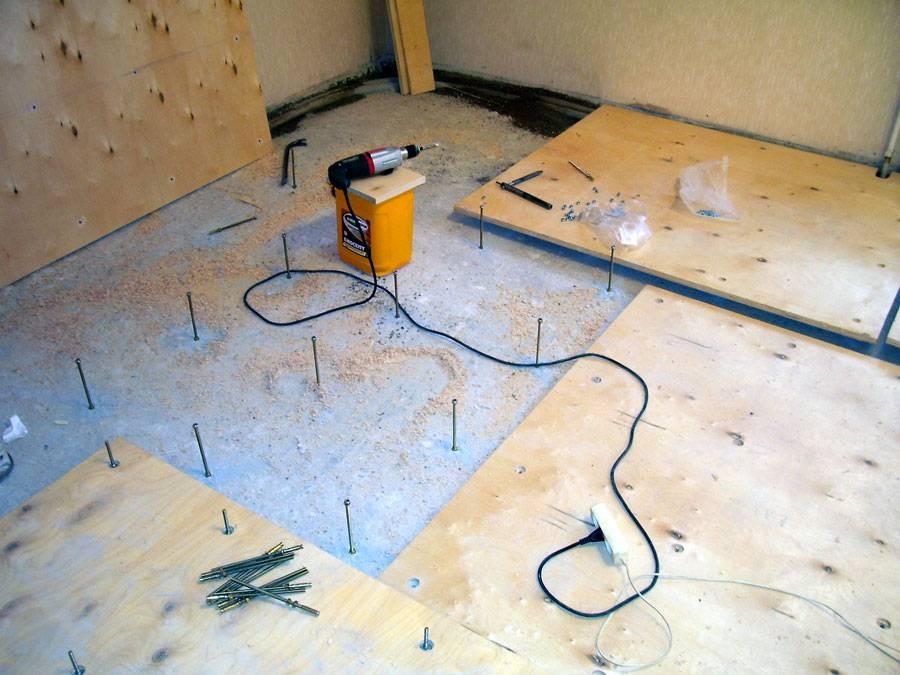 Выравнивание деревянного пола фанерой: укладка фанеры на деревянный пол