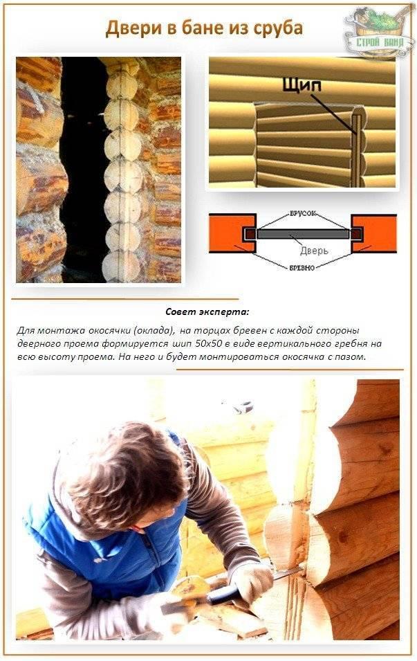 Разновидности банных дверей, описание установки конструкций из различных материалов
