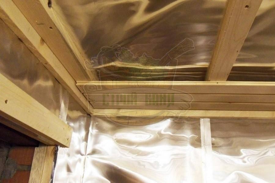 Пароизоляция бани – выбор материала и его монтаж