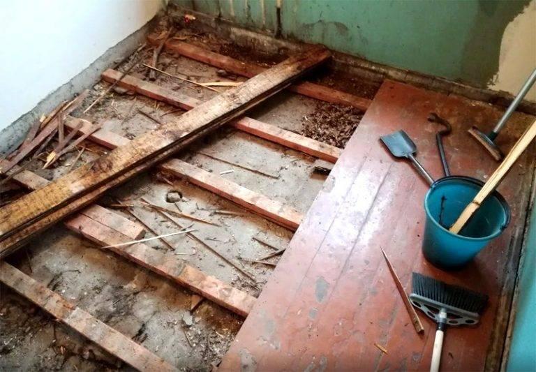 Как перестелить деревянный пол
