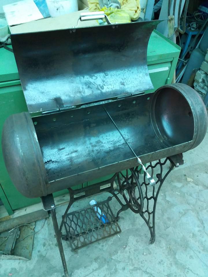 Как правильно сделать мангал из газового баллона?