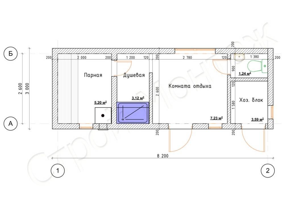 Хозблок с душем и туалетом под одной крышей: проекты для дачи, строительство своими руками, фото