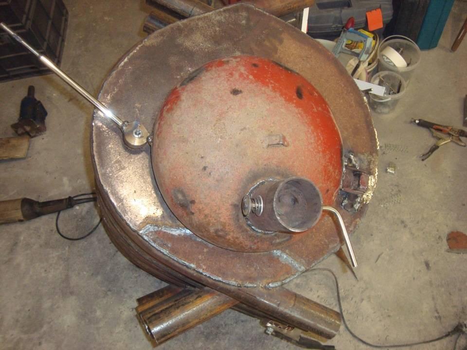 Изготовление печи булерьян своими руками из профильной трубы и газового баллона