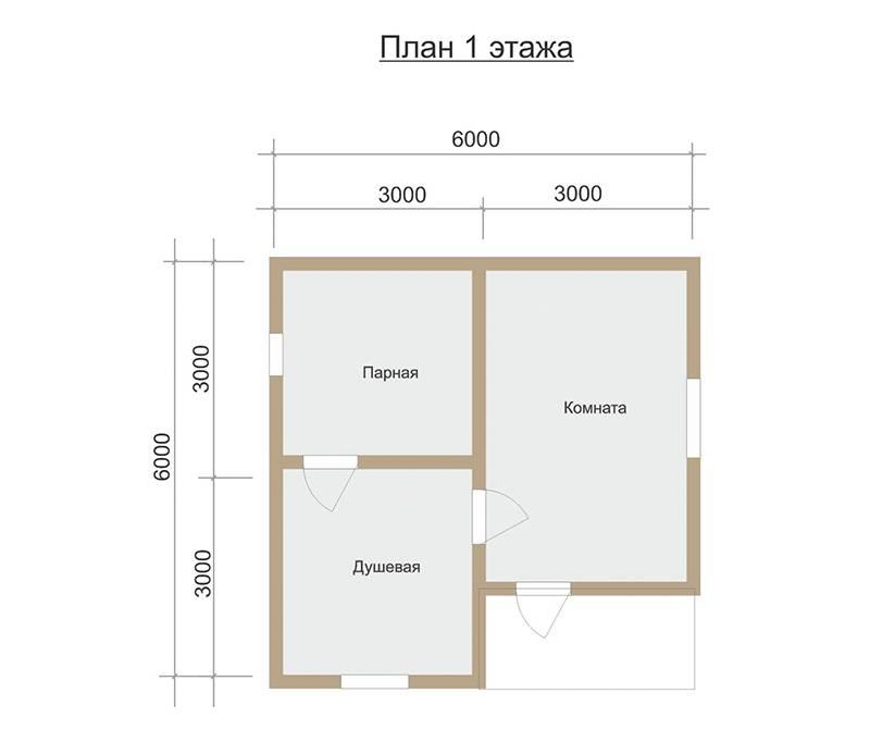Дом-баня 6 на 6: особенности постройки и планировки помещений
