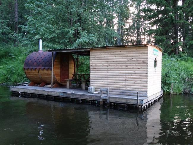 Баня на воде: фото и видео интересных вариантов плавучих парилок