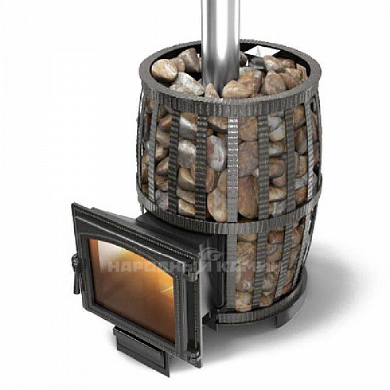 Печь для бани с теплообменником для отопления
