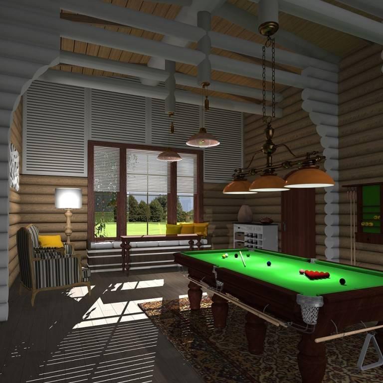 Дизайн бильярдной комнаты (54 фото): примеры интерьера для частного дома. оформление зала для бильярда в цокольном этаже. красивые примеры с натяжными потолками