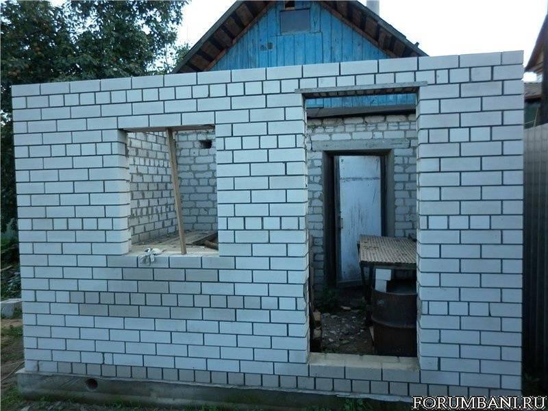Как построить баню из керамзитоблоков своими руками