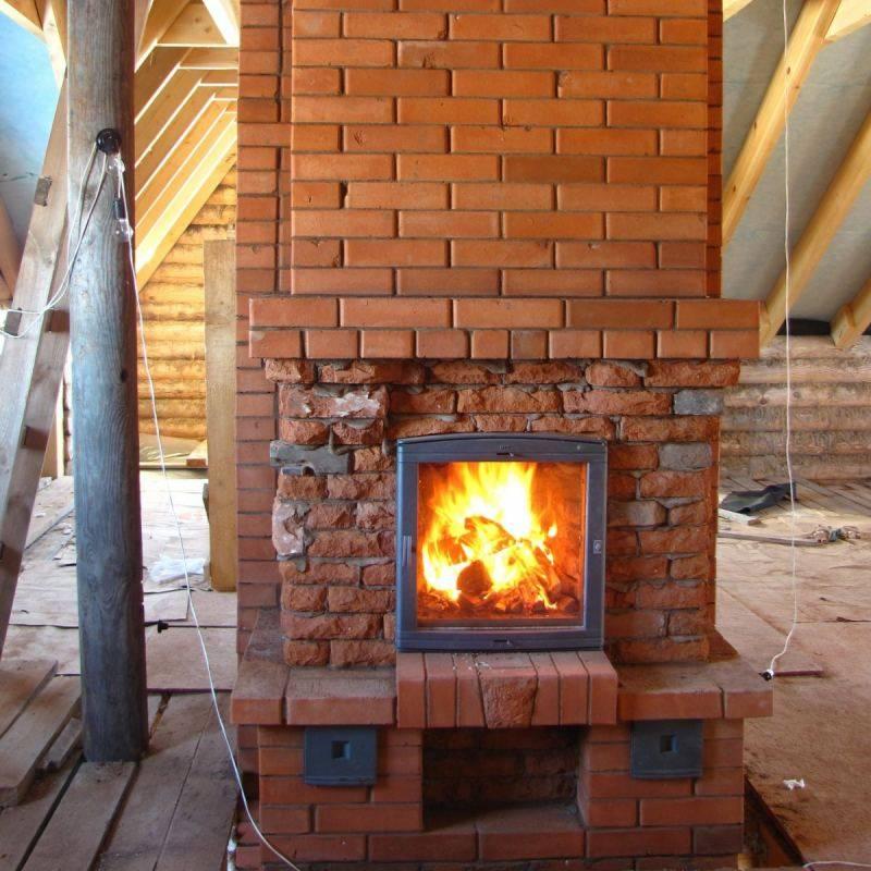 Как построить печь-камин из кирпича своими руками