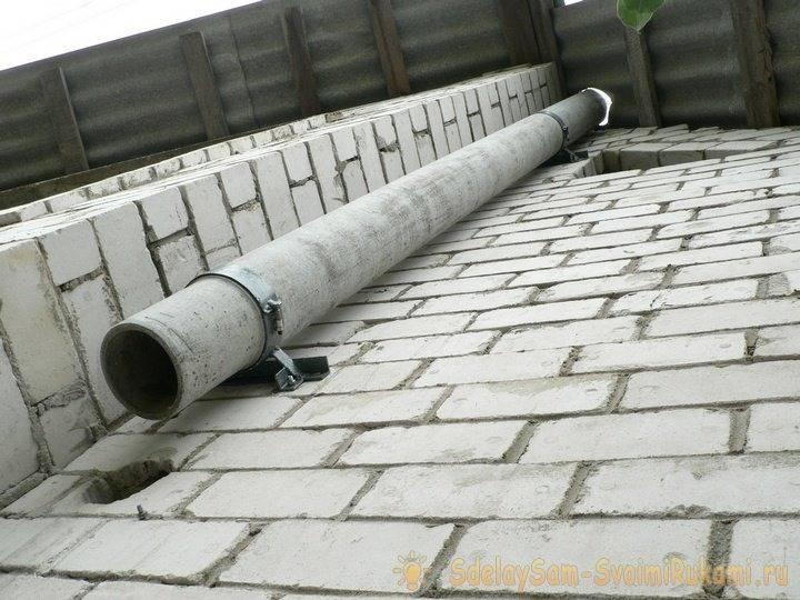 Асбестовая труба для устройства дымохода