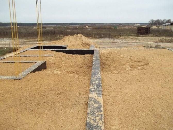 Подушка под фундамент: песчаная, бетонная или гравийная