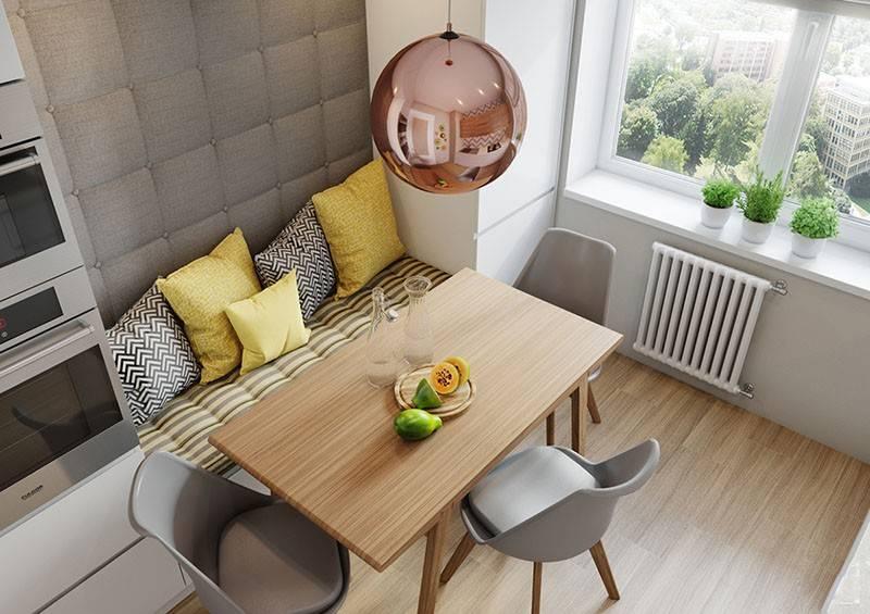 Обеденная зона на маленькой кухне: 30 фото в хрущевкахе 5-7 кв м, современные идеи и решения