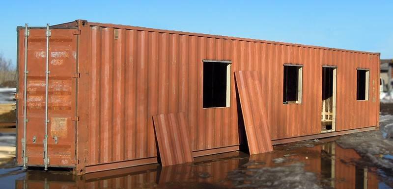 Баня из контейнера своими руками: особенности технологии, фото