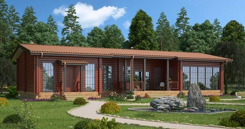 Проекты бани с гостевым домиком - подробное описание с фото