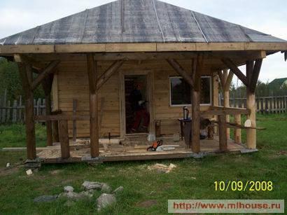 Строительство бани из бытовки своими руками