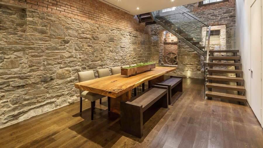 Особенности отделки стен деревом в стиле лофт