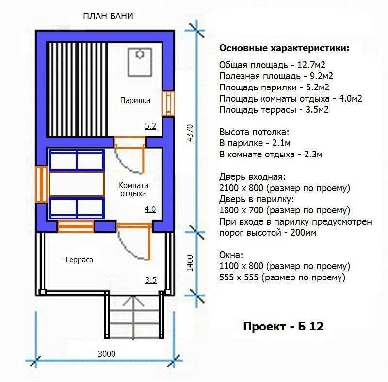 Высота потолков в бане — какой должна быть и как её правильно определить
