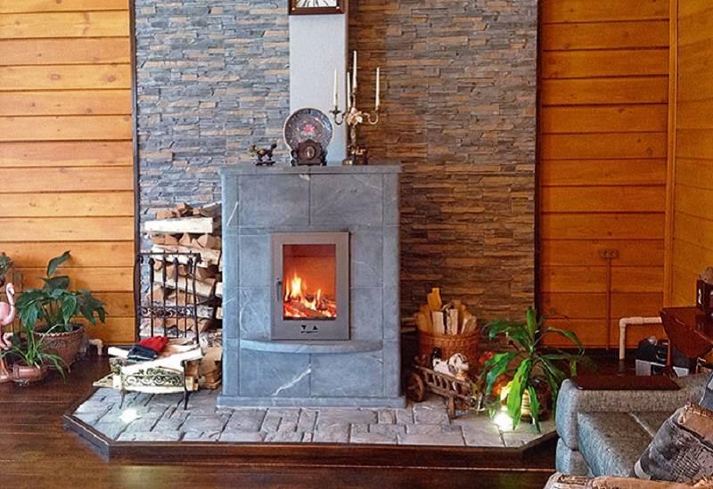 Печь-камин для бани и особенности ее сооружения