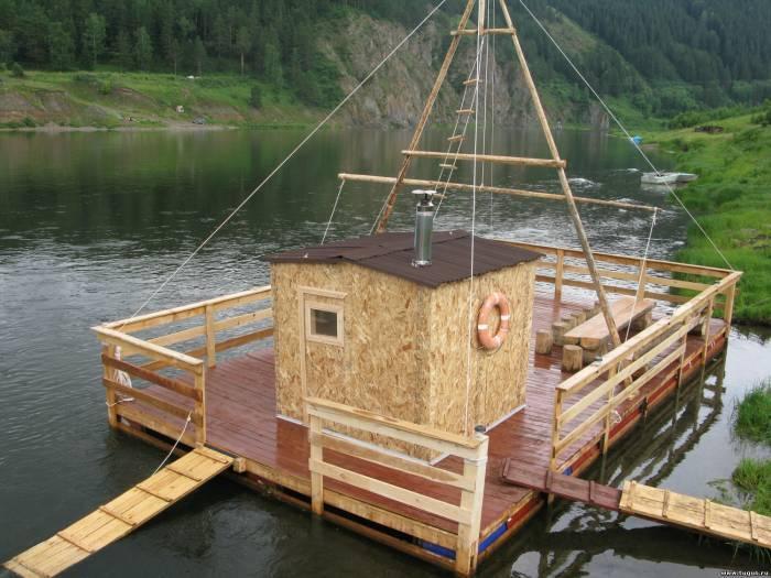 Баня на реке и на берегу реки: преимущества, недостатки. особенности строительства бани на реке и берегу реки