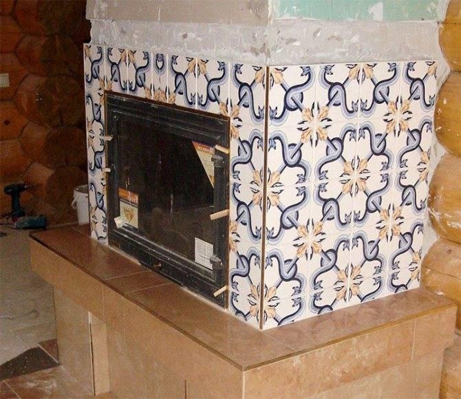 Как обкладывать печь керамической плиткой своими руками (видео уроки по облицовке)