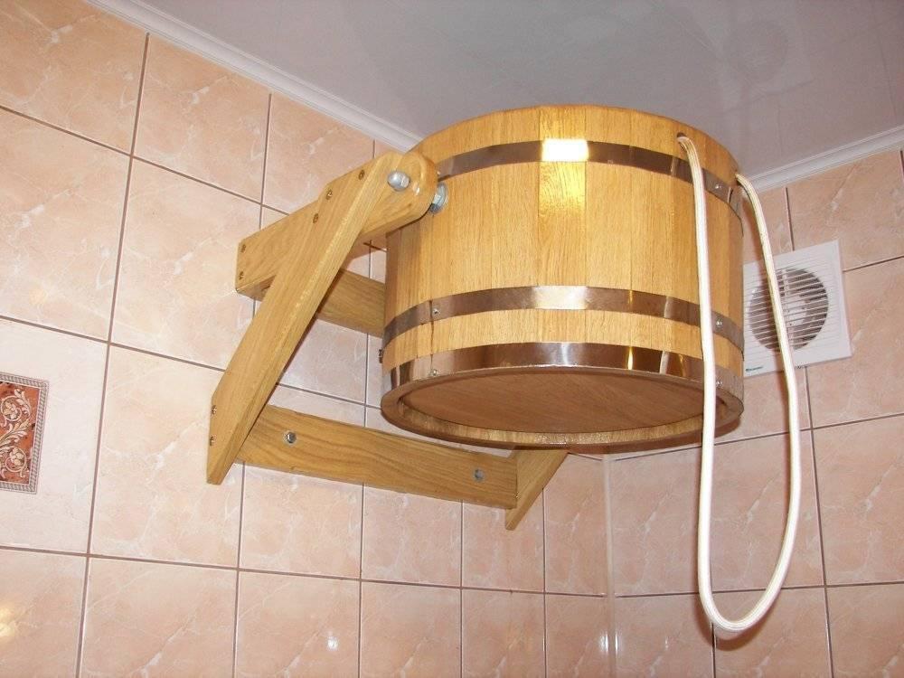 Ведро для обливания в баню своими руками: как сделать и установить